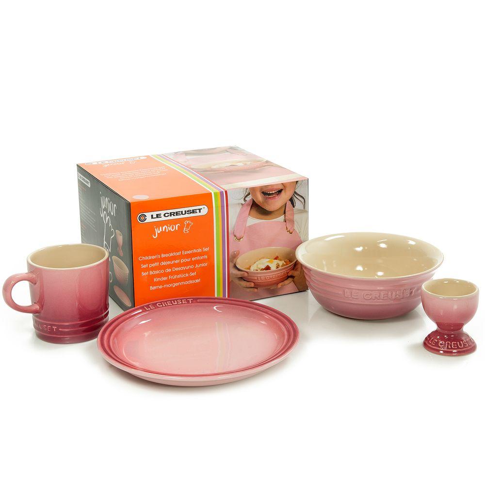 kit cafe da manha infantil le creuset rosa lavillecasa. Black Bedroom Furniture Sets. Home Design Ideas